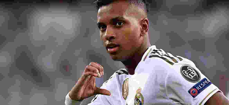 Rodrygo, atacante do Real Madrid, durante partida contra o Galatasaray - Pierre-Philippe Marcou/AFP