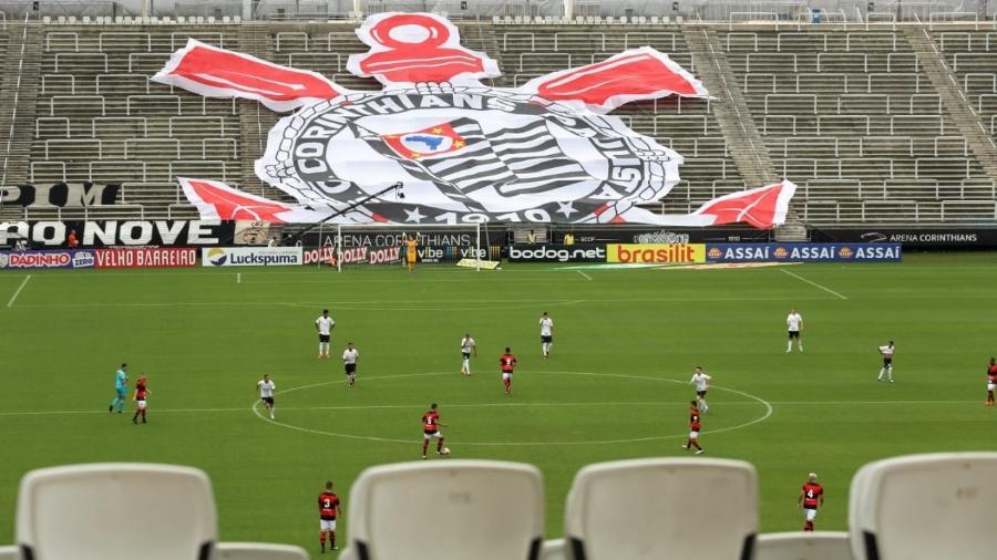Arena Corinthians com cadeiras vazias durante duelo Corinthians x Ituano - Rodrigo Coca/Ag. Corinthians