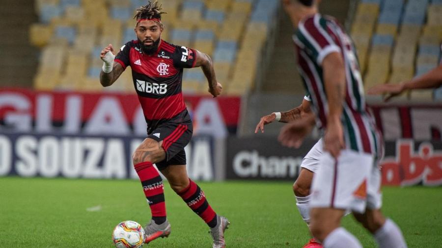 Gabigol, atacante do Flamengo, durante final da Taça Rio contra o Fluminense - divulgação/Flamengo