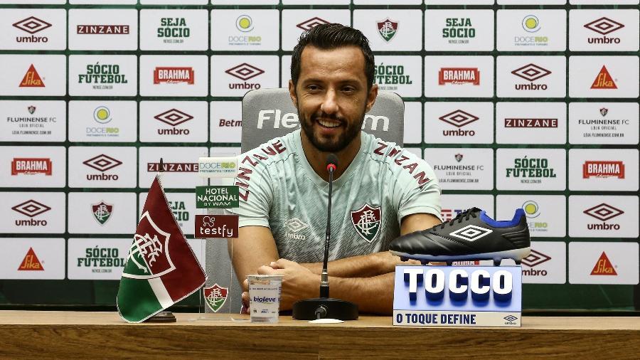 Nenê admitiu ansiedade por volta à Libertadores, elogiou Cazares e exaltou seus números no Fluminense - Lucas Merçon/Fluminense FC