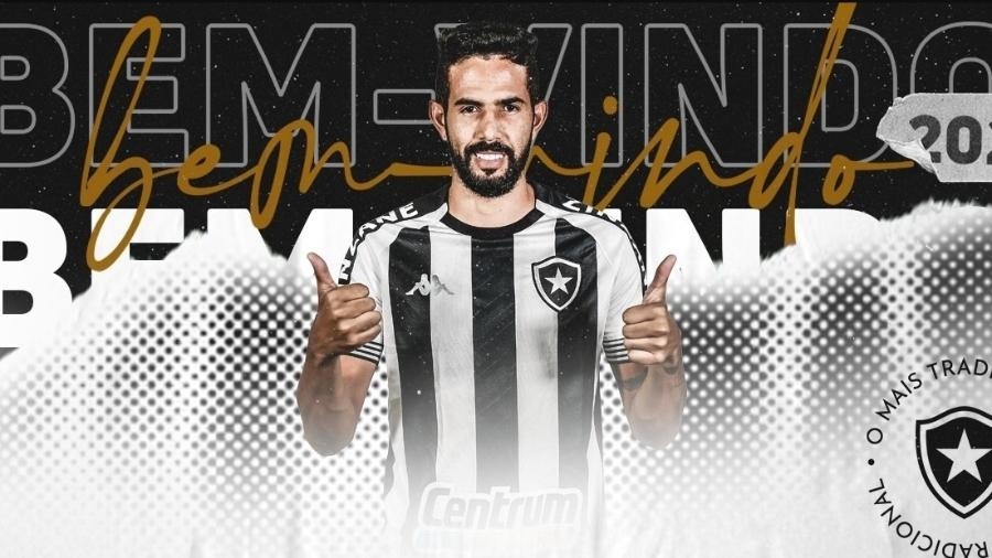 Botafogo anuncia a contratação do lateral-direito Jonathan - Reprodução / site oficial do Botafogo