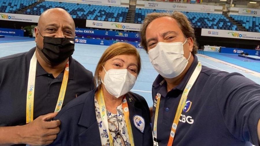 Marcelo Magalhães, Maria Luciene e Pedro Guimarães - Reprodução