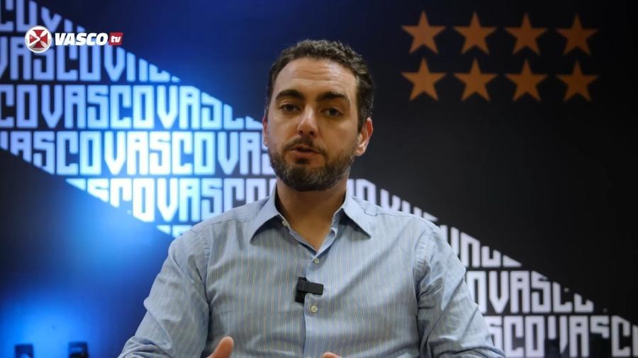 José Cândido Bulhões, vice-jurídico do Vasco, em pronunciamento na VascoTV - Reprodução VascoTV