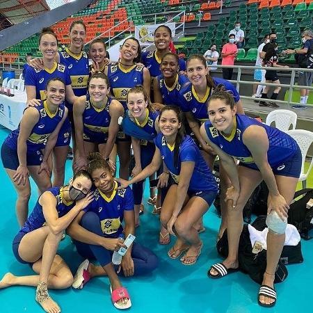 Seleção brasileira feminina ficou com o título no Sul-Americano de vôlei - Divulgação/CBV