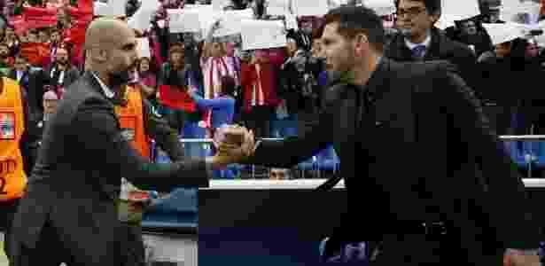 Guardiola e Simeone se cumprimentam - Reuters / Sergio Perez Livepic - Reuters / Sergio Perez Livepic