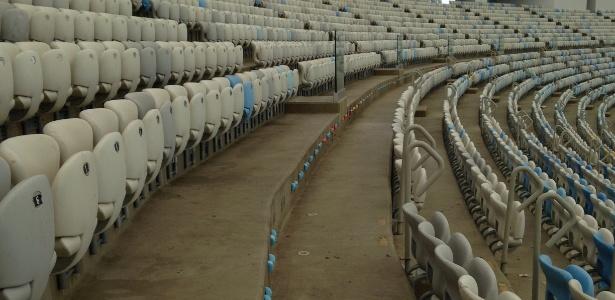 Abandonado após a Rio-2016, Maracanã tem fileiras sem cadeiras nas arquibancadas