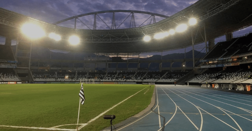 Estádio Nilton Santos pronto para receber Botafogo x Vasco pelo Brasileirão
