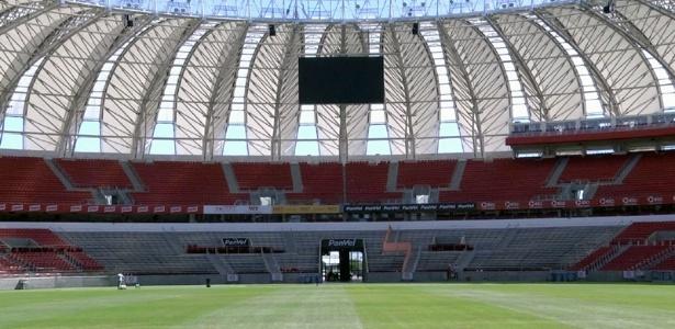 Estádio Beira-Rio com setor sem cadeiras para criação de 'espaço democrático'