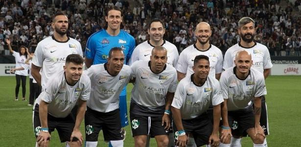 Estiveram no jogo 10 atletas que venceram a Libertadores de 2012 pelo Corinthians - Divulgação/Corinthians
