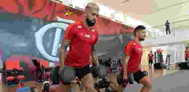 Gabigol e Arrascaeta serão apresentados à torcida, mas não jogarão pelo Fla - Alexandre Vidal / Flamengo.com.br