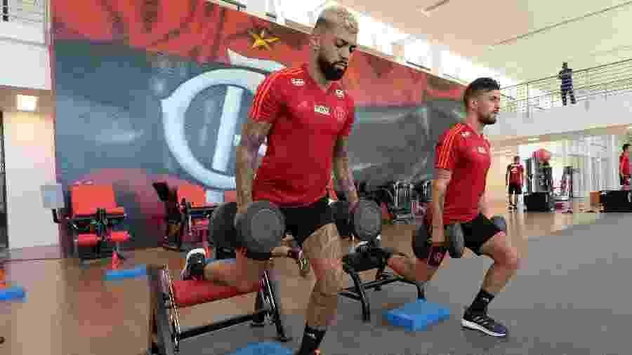 """Gabigol e Arrascaeta são representantes da """"Era ostentação"""" do Flamengo - Alexandre Vidal / Flamengo.com.br"""