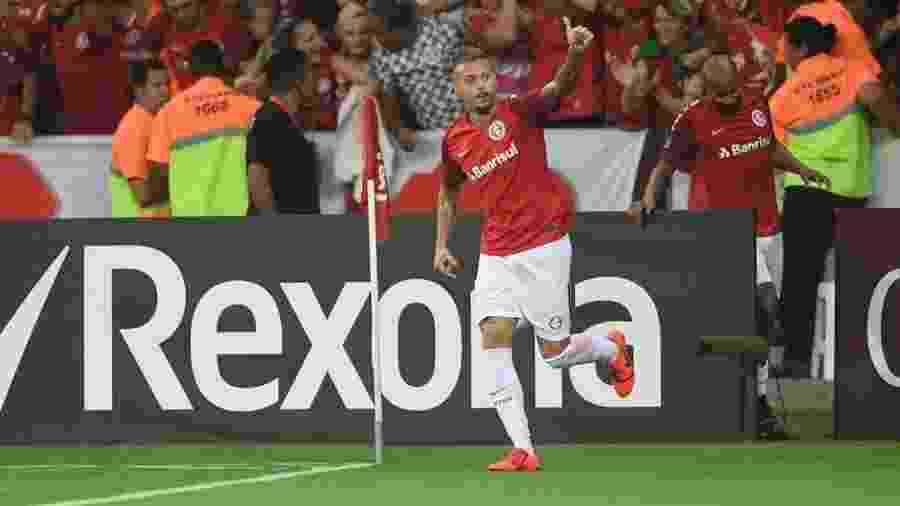 Nico López comemora gol do Internacional contra o River Plate - Ricardo Duarte