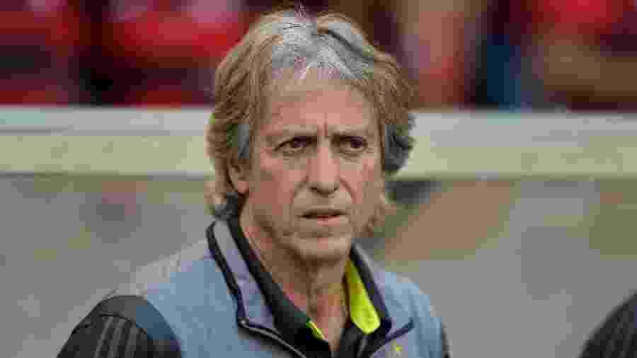 Jorge Jesus, técnico do Flamengo, deve mandar time titular contra o Santos - Thiago Ribeiro/AGIF