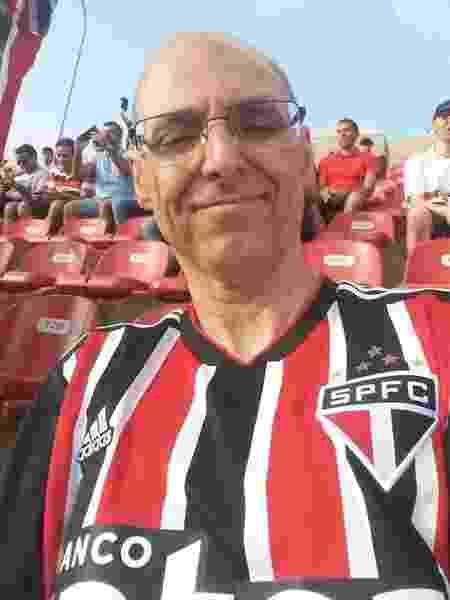 Alexandre Lenz Cavalcanti, torcedor surdo do São Paulo - Arquivo pessoal