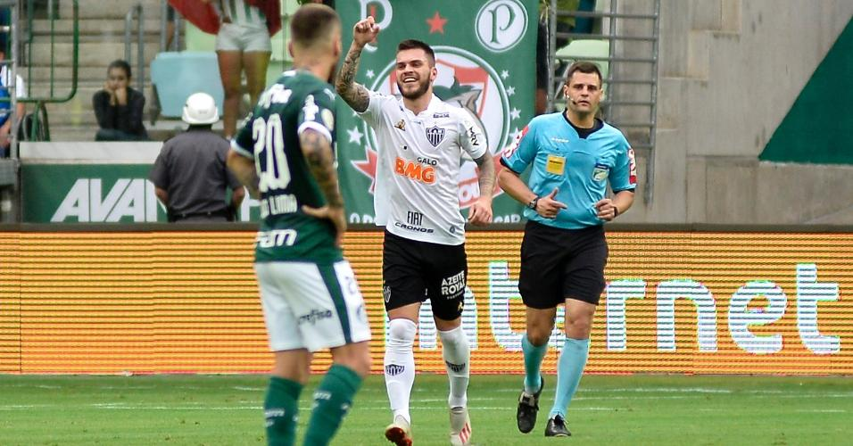 Nathan comemora gol do Atlético-MG contra o Palmeiras