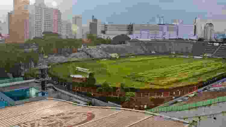 Palestra Itália, antigo estádio do Palmeiras, começou a ser demolido em 2010 - Carlos Cecconello/Folhapress