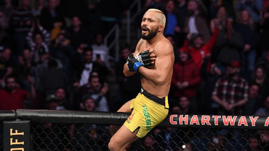 Deiveson Figueiredo comemorou mais uma vitória - Josh Hedges/Zuffa LLC via Getty Images
