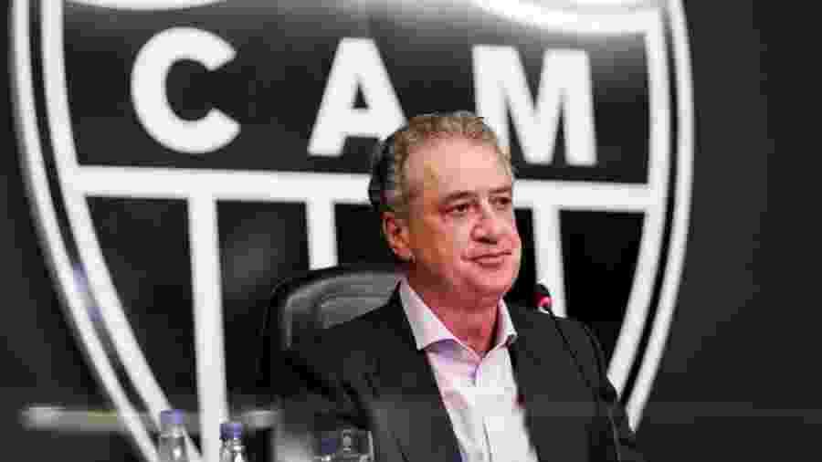 Sérgio Coelho foi empossado presidente do Galo no dia 4 de janeiro e agora se afasta da sede do clube por causa do coronavírus - Divulgação/Atlético-MG