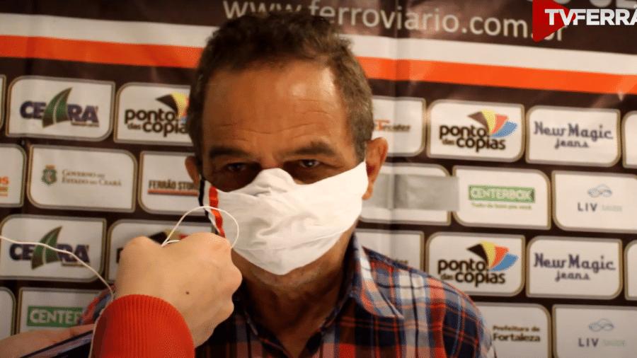 Francisco Diá, técnico do Ferroviário-CE - Reprodução/Youtube