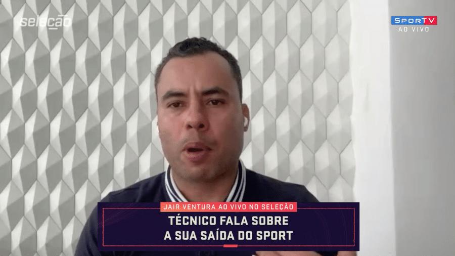 """Jair Ventura, em entrevista ao """"Seleção SporTV"""", fala da saída do Sport - Reprodução / SporTV"""