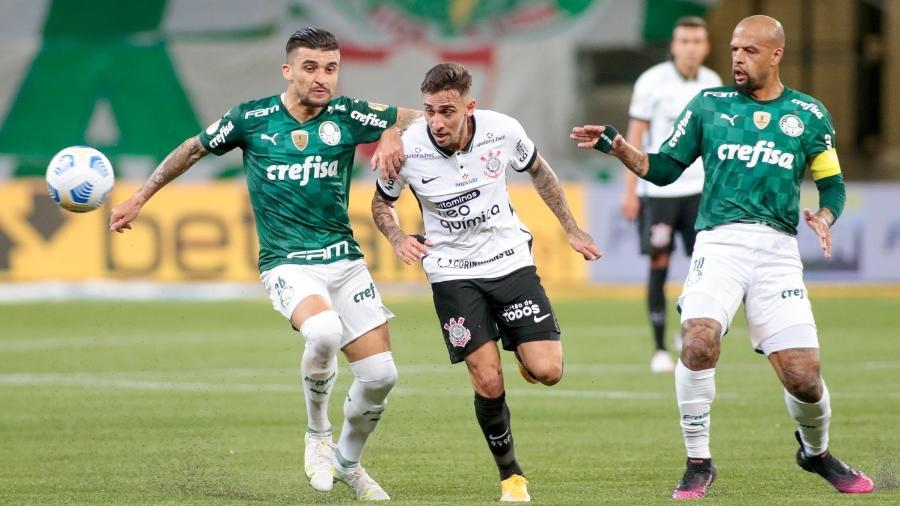 Gustavo Mosquito, atacante do Corinthians, no clássico contra o Palmeiras - Rodrigo Coca / Ag. Corinthians