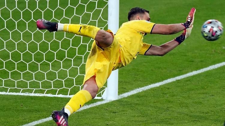 Donnarumma defende pênalti que deu o título da Eurocopa à Itália - Mike Egerton/PA Images via Getty Images - Mike Egerton/PA Images via Getty Images