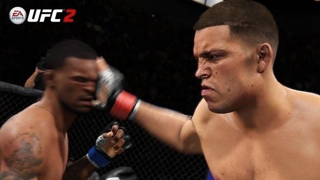Nate Diaz desfere tapa no rosto de adversário em jogo do UFC