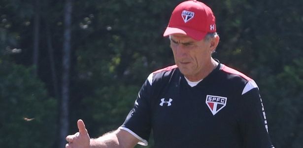 Edgardo Bauza treinou o São Paulo com a equipe reserva para confronto com o Botafogo