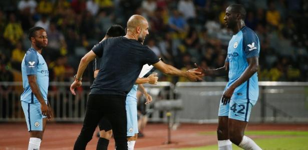 Veteranos como Yaya Toure não estão bem cotados com o técnico no City