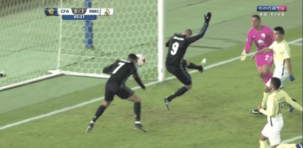 Cristiano Ronaldo perde gol - SporTV/Reprodução - SporTV/Reprodução