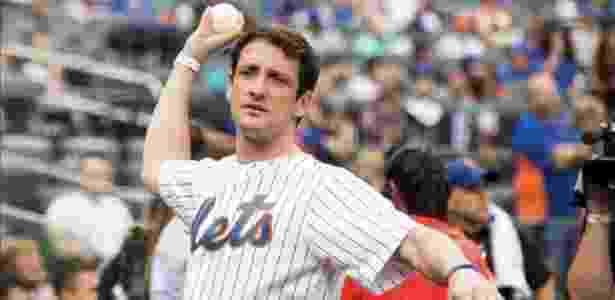 """Belletti """"em ação"""" pelos Mets: foto rendeu críticas da torcida do Coxa nas redes sociais - Arquivo pessoal"""