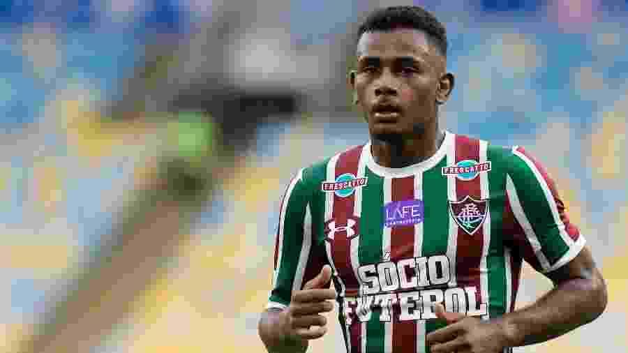 Wendel em ação pelo Fluminense contra o Avaí - Thiago Ribeiro/AGIF