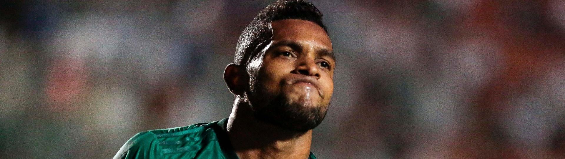 Borja comemora gol marcado para o Palmeiras contra a Ponte Preta