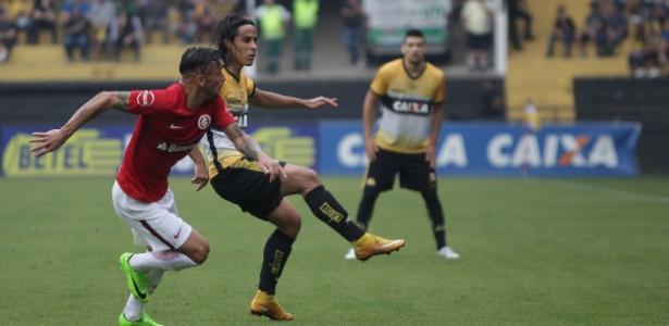 Alemão em ação na partida entre Inter e Criciúma - Guilherme Hahn/AGIF