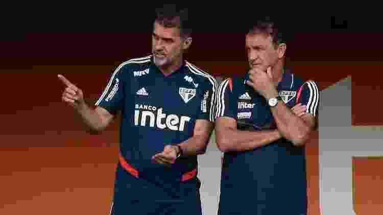 Vagner Mancini, coordenador técnico, e Cuca, técnico do São Paulo - Marcello Zambrana/AGIF - Marcello Zambrana/AGIF