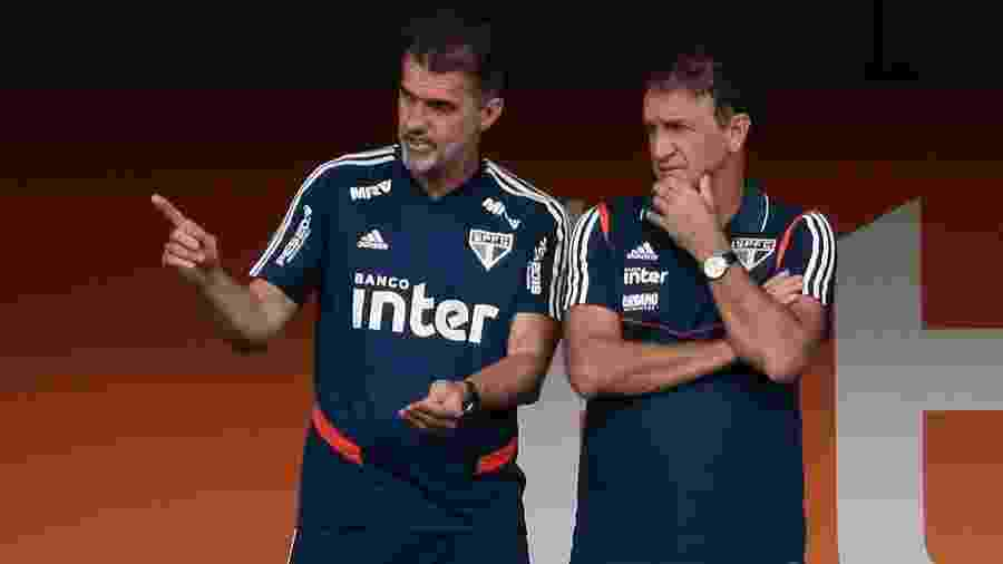 Vagner Mancini, coordenador técnico, e Cuca, técnico do São Paulo - Marcello Zambrana/AGIF