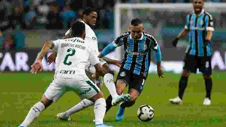 Grêmio nunca conseguiu reverter duelo na Libertadores após perder jogo de ida como mandante -     Jeferson Guareze/AGIF