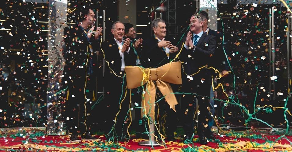 Rogério Caboclo e Walter Feldman inauguram a Brasil Futebol Expo