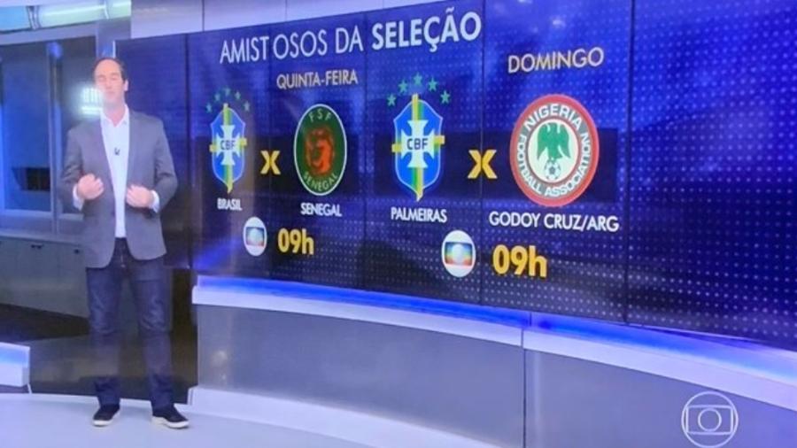 """Brasil x Nigéria acabou se """"transformando"""" em Palmeiras x Godoy Cruz - Reprodução/Twitter"""