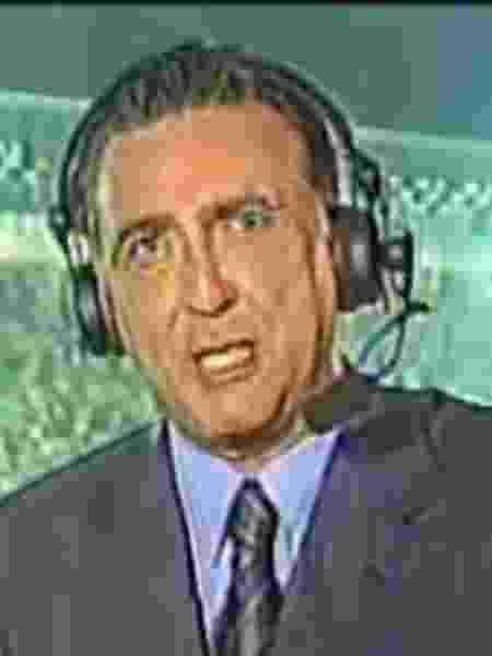 Galvão Bueno em Yokohama na final da Copa do Mundo de 2002 - Reprodução/YouTube