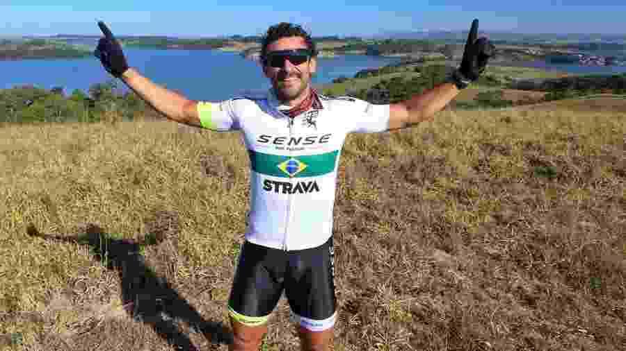 Fred, do Fluminense, está fazendo viagem de bicicleta de Belo Horizonte ao Rio de Janeiro - Gustavo Lovalho | Sense Bike divulgação