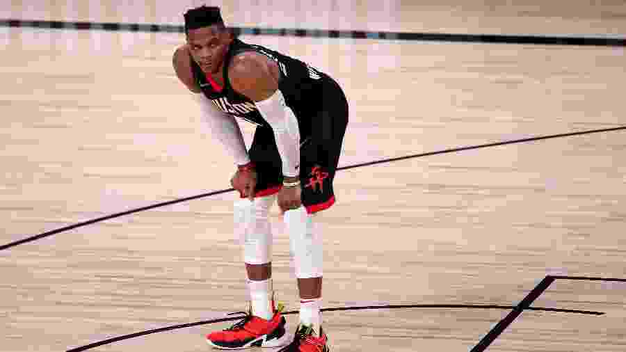 Russell Westbrook deseja sair do Houston Rockets - Michael Reaves/Getty Images/AFP
