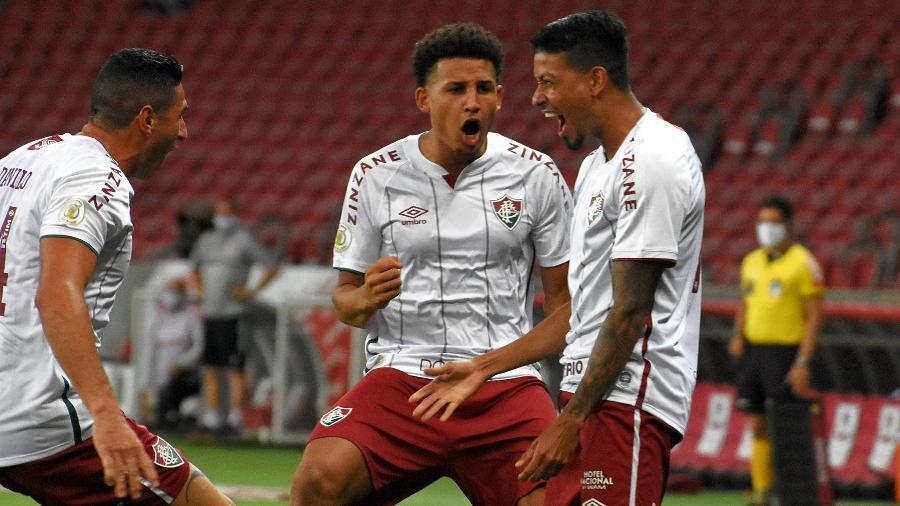 Lucca comemora gol sobre o Inter, seu primeiro pelo Fluminense e nono olímpico da história do clube - Mailson Santana/Fluminense FC
