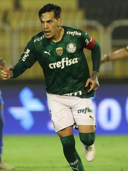 Gustavo Gómez comemora gol do Palmeiras em Volta Redonda - Cesar Greco