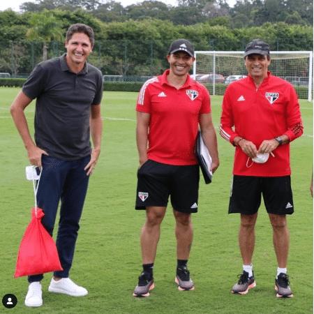 Edmilson, Alex e Milton Cruz em jogo do Sub-20 do São Paulo  - Reprodução