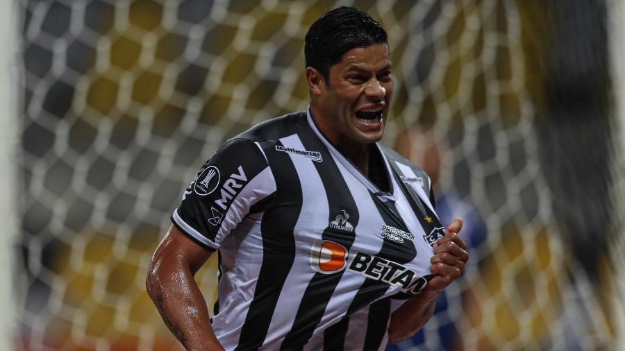 Hulk volta a mostrar força dentro de campo e se firma como titular do ataque atleticano - Pedro Souza/Atlético-MG