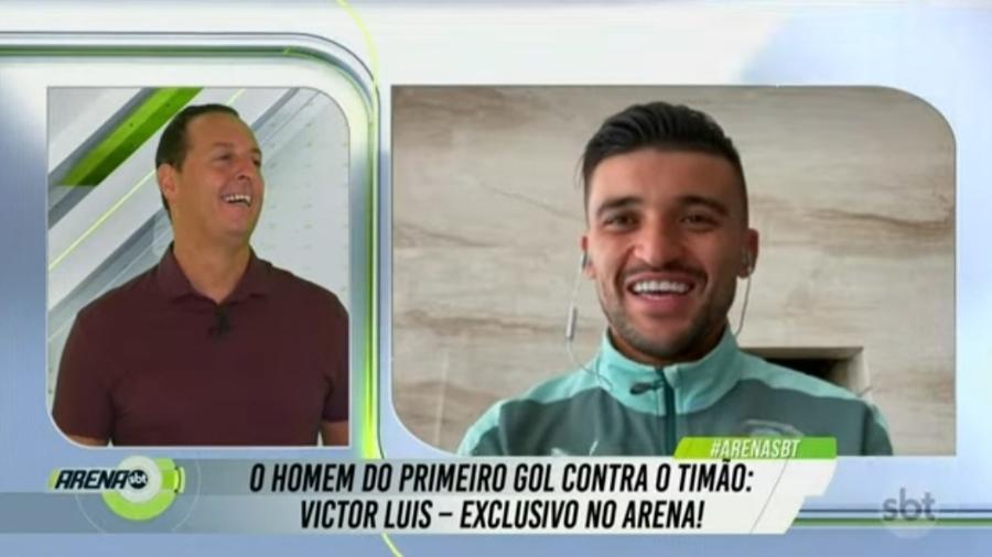 Victor Luís diz que Dudu já conversou com jogadores do Palmeiras - Reprodução/SBT