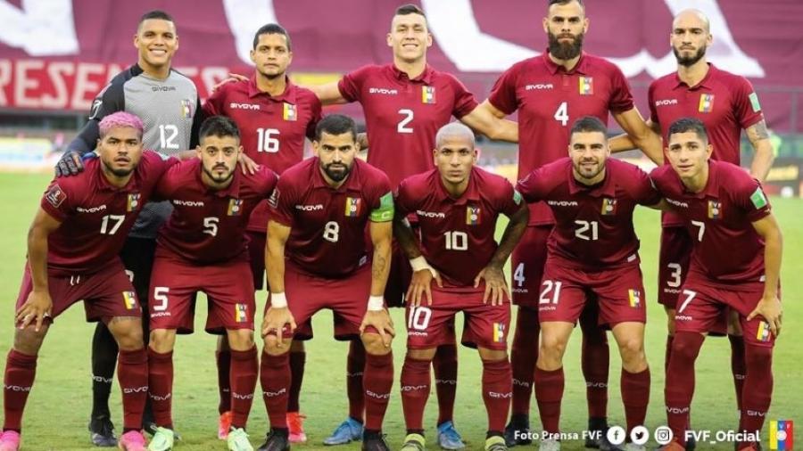 Seleção da Venezuela, que enfrentará o Brasil na primeira rodada da Copa América e tem surto de covid-19 - Divulgação
