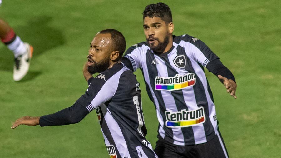 Chay, do Botafogo, comemora seu gol em partida contra o Vitória - MAGA JR/O FOTOGRÁFICO/ESTADÃO CONTEÚDO