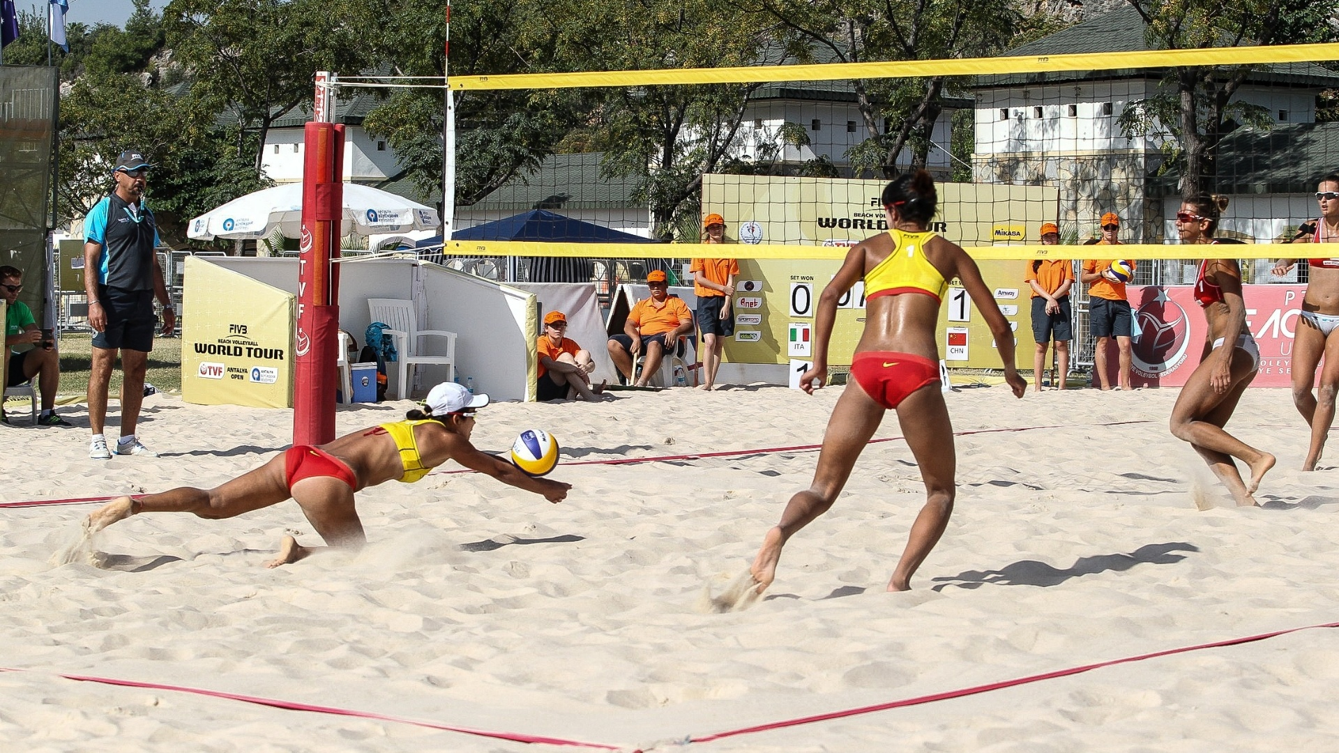 Etapa do circuito mundial de vôlei de praia, na Turquia